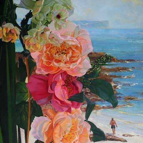 (CreativeWork) 'BALMORAL FLORAL' by ROBERT HAGAN romantic series by Robert Hagan. Oil Paint. Shop online at Bluethumb.