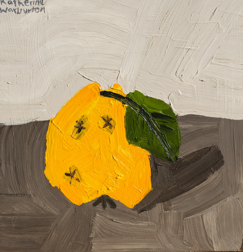 (CreativeWork) The fruit of the little gnarled stump by Katherine Warburton. arcylic-painting. Shop online at Bluethumb.