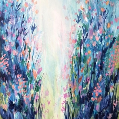 (CreativeWork) Lightspring by Andrea Hamann. Acrylic Paint. Shop online at Bluethumb.