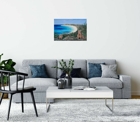 (CreativeWork) Down Under by Kerry Sandhu. Acrylic Paint. Shop online at Bluethumb.