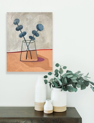 (CreativeWork) Silver Dollar Intersect 2019 by Sally Browne. Oil Paint. Shop online at Bluethumb.