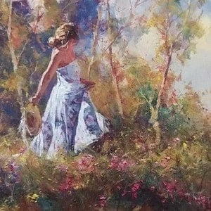 (CreativeWork) PLEASANT AFTERNOON by Robert Hagan. oil-painting. Shop online at Bluethumb.