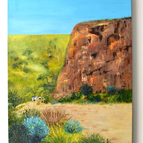 (CreativeWork) Travelling 'round the Top End by Mariese Galvin. Acrylic Paint. Shop online at Bluethumb.