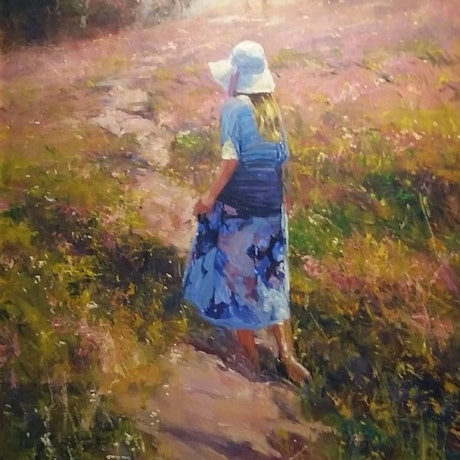 (CreativeWork) 'PATHWAY OF COLOUR' by ROBERT HAGAN romantic series by Robert Hagan. Oil Paint. Shop online at Bluethumb.