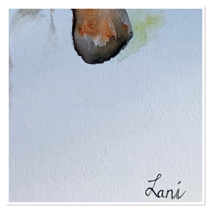 (CreativeWork) Butterflying by Lani Kay. Watercolour Paint. Shop online at Bluethumb.