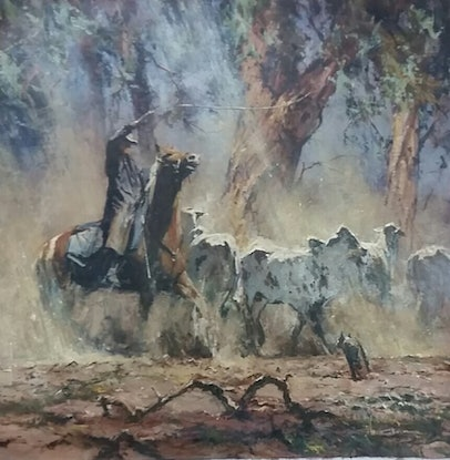 (CreativeWork) 'DEFIANT' by ROBERT HAGAN - iconic investment art. by Robert Hagan. Oil Paint. Shop online at Bluethumb.
