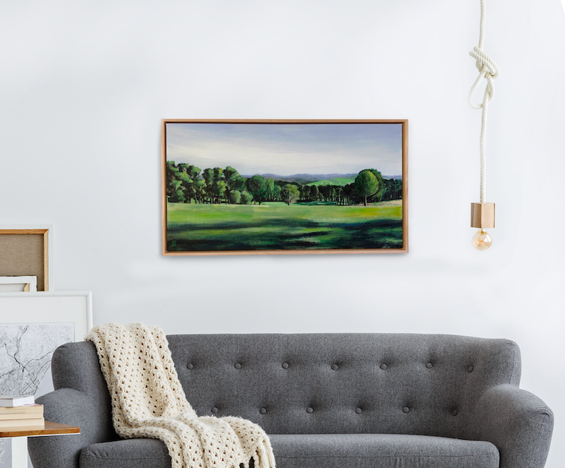 (CreativeWork) View from Donaldson's Road-Red Hill by Rosalie Street. arcylic-painting. Shop online at Bluethumb.