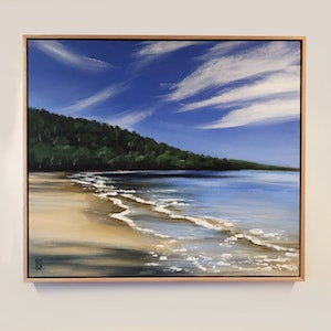 (CreativeWork) Morning at Randals Bay by Rosalie Street. arcylic-painting. Shop online at Bluethumb.
