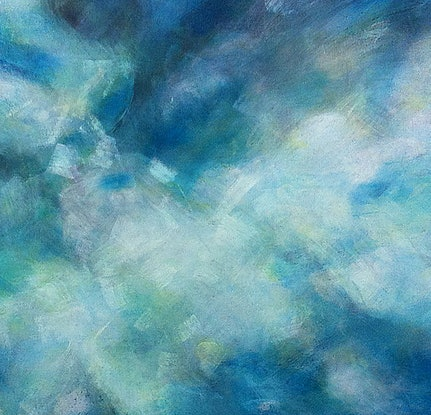 (CreativeWork) Sea Cloud II – Large Original Painting by Jacquelyn Stephens. #<Filter:0x000055773cd9c020>. Shop online at Bluethumb.
