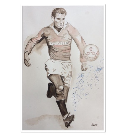 (CreativeWork) Midfielder by Lani Kay. Watercolour Paint. Shop online at Bluethumb.