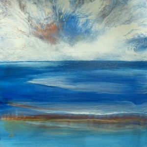(CreativeWork) Spectacular Sky by Clare Riddington Jones. arcylic-painting. Shop online at Bluethumb.