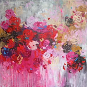 (CreativeWork) Feels Like Love by Belinda Nadwie. oil-painting. Shop online at Bluethumb.