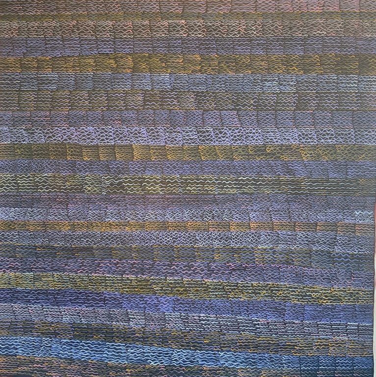 (CreativeWork) Weaving Design by Miriam Byrnes. arcylic-painting. Shop online at Bluethumb.