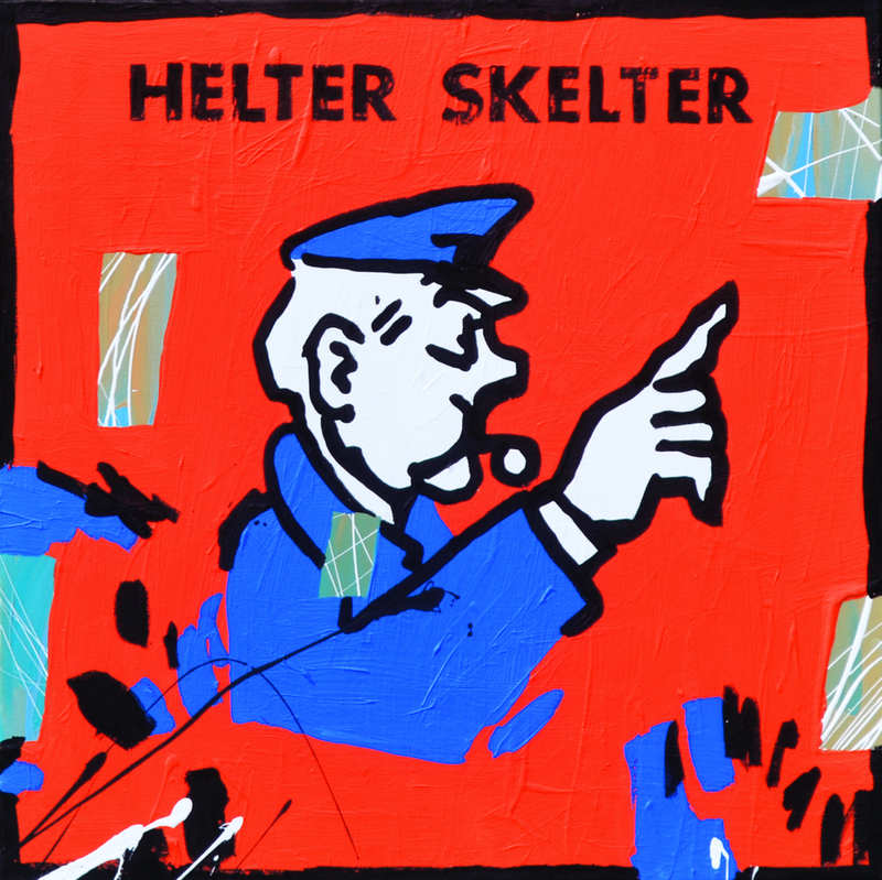 (CreativeWork) Helter Skelter by Ben Tankard. arcylic-painting. Shop online at Bluethumb.