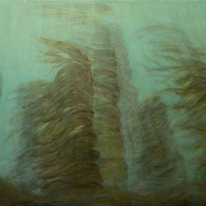 (CreativeWork) Kelp Gardens by Catherine Stringer. acrylic-painting. Shop online at Bluethumb.