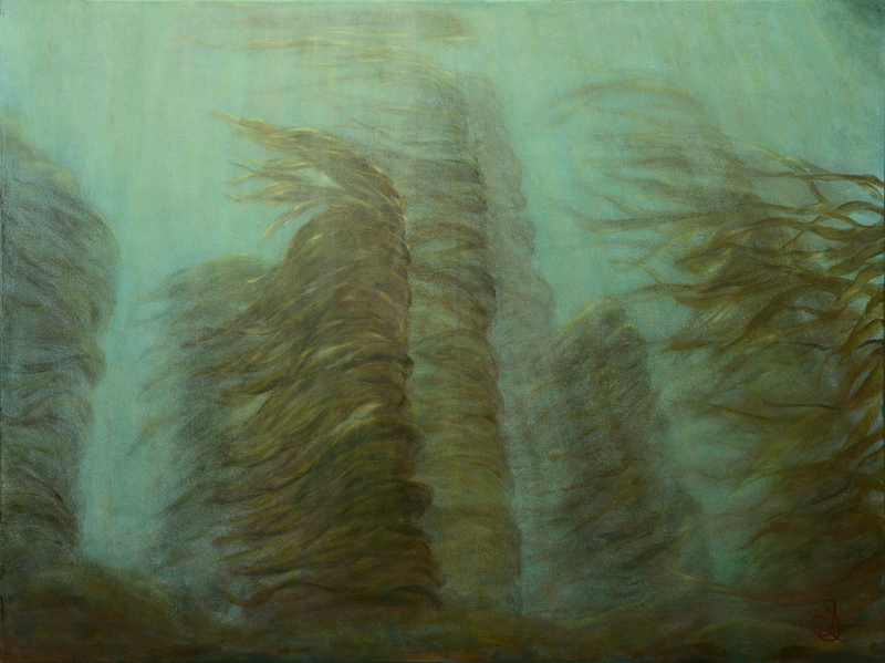 (CreativeWork) Kelp Gardens by Catherine Stringer. arcylic-painting. Shop online at Bluethumb.