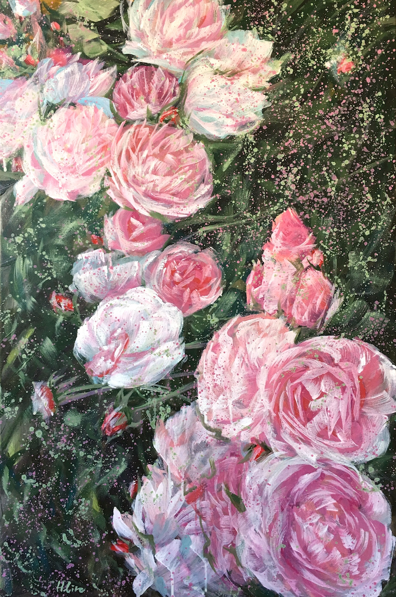 (CreativeWork) To Love Fiercely And Fearlessly - Peony Roses by HSIN LIN. arcylic-painting. Shop online at Bluethumb.
