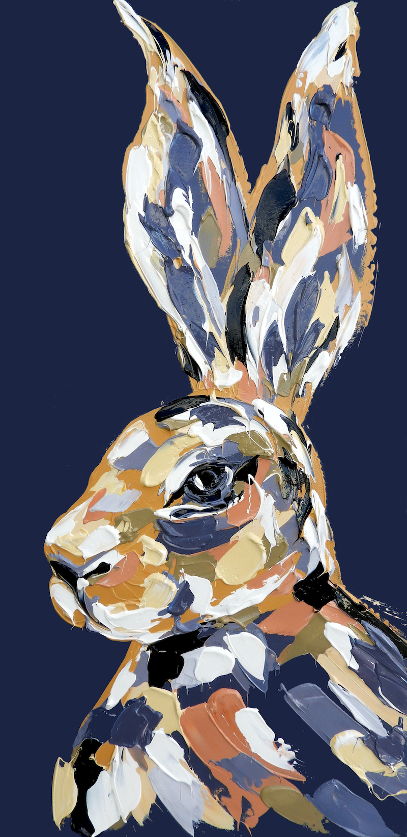 (CreativeWork) The Purple Velveteen Hare by Lisa Fahey. acrylic-painting. Shop online at Bluethumb.