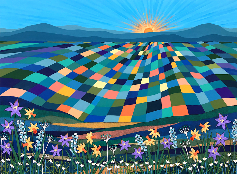 (CreativeWork) Bright Sun Shiny Day  by Lisa Frances Judd. Acrylic Paint. Shop online at Bluethumb.