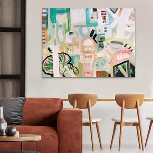 (CreativeWork) SUGAR CITY  by Uschi Novinc. arcylic-painting. Shop online at Bluethumb.