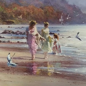 (CreativeWork) LAZY AFTERNOON - Romantic series by Robert Hagan. oil-painting. Shop online at Bluethumb.