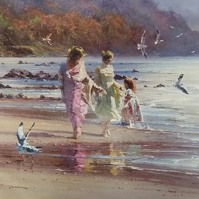(CreativeWork) LAZY AFTERNOON - Romantic series by Robert Hagan. Oil Paint. Shop online at Bluethumb.