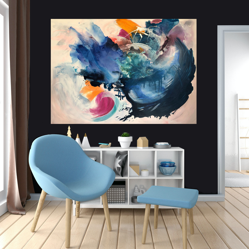 (CreativeWork) Break Free by Michelle Drougas. mixed-media. Shop online at Bluethumb.