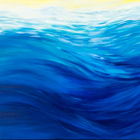 (CreativeWork) Above the swell by Jenny Baker. Acrylic Paint. Shop online at Bluethumb.