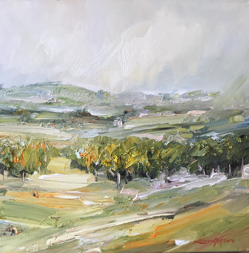 (CreativeWork) Yarra Valley by Liliana Gigovic. oil-painting. Shop online at Bluethumb.