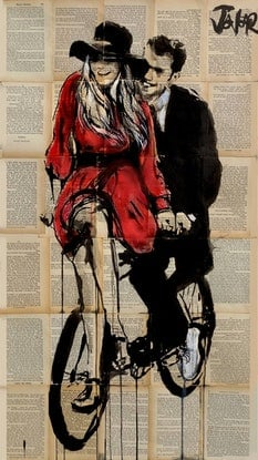 (CreativeWork) HER SUMMER RIDE by loui jover. Drawings. Shop online at Bluethumb.