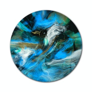 (CreativeWork) TO THE MOON AND BACK   by Deborah O'Loughlin. resin. Shop online at Bluethumb.