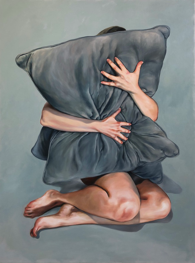 (CreativeWork) The Impermanence of comfort by maria radun. Oil Paint. Shop online at Bluethumb.