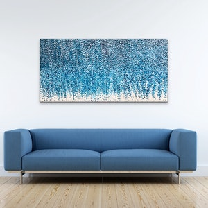 (CreativeWork) Blue Opals by Theo Papathomas. arcylic-painting. Shop online at Bluethumb.