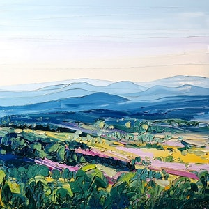 (CreativeWork) Tamborine Mountain View - Framed - Landscape Painting by Angela Hawkey. oil-painting. Shop online at Bluethumb.