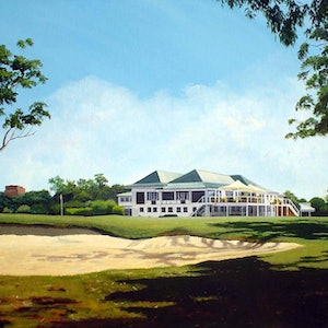 "(CreativeWork) Artist Proof - ""From the 18th -  The Brisbane Golf Club"" Ed. 1 of 50 by Paul Drought. print. Shop online at Bluethumb."