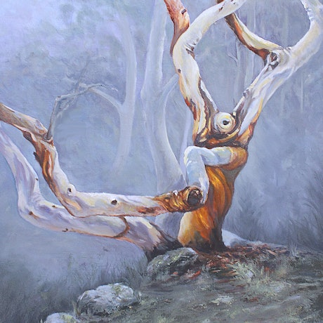 (CreativeWork) Writhing by Pauline Johnson. Oil Paint. Shop online at Bluethumb.