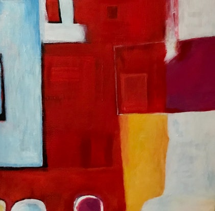 (CreativeWork) PRIMARY IMPROMPTU by LOUISE GROVE WIECHERS. Acrylic Paint. Shop online at Bluethumb.