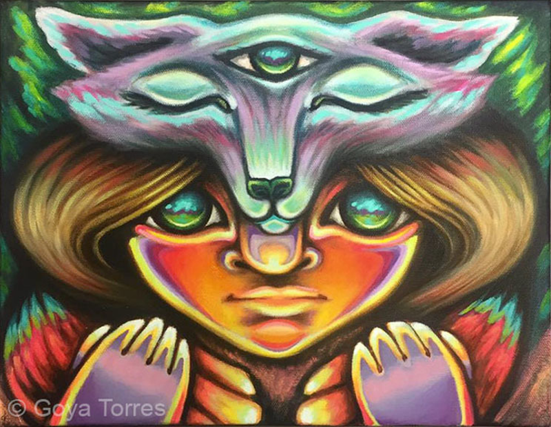 (CreativeWork) Children of the Sun One by Goya Torres. Mixed Media. Shop online at Bluethumb.