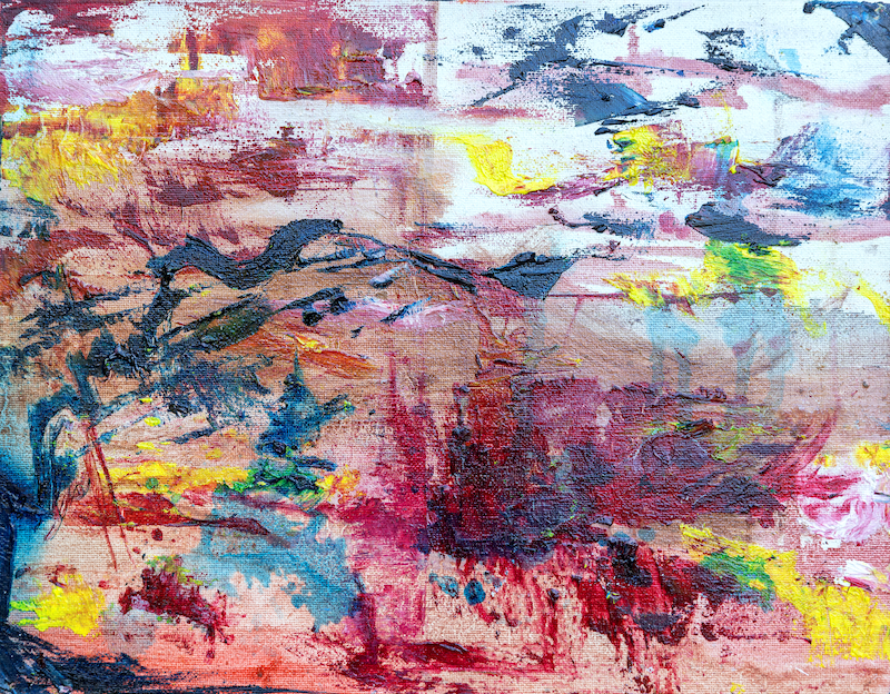 (CreativeWork) Untitled  I by Colin Avosa. Oil Paint. Shop online at Bluethumb.