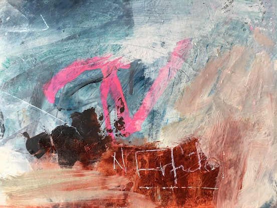 (CreativeWork) A Rising Tide by Nicole Fearfield. Mixed Media. Shop online at Bluethumb.