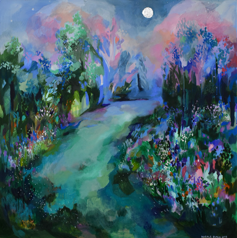 (CreativeWork) Harvest Moon by Nicole Black. Oil Paint. Shop online at Bluethumb.