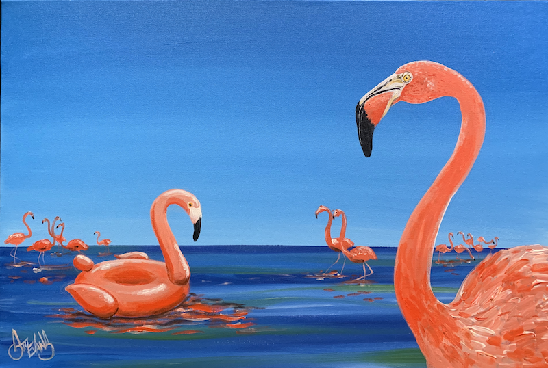 (CreativeWork) The imposter by Stuart Evans. Acrylic Paint. Shop online at Bluethumb.