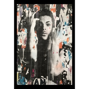 (CreativeWork) Street Icon 125 - Prince by Cold Ghost. mixed-media. Shop online at Bluethumb.