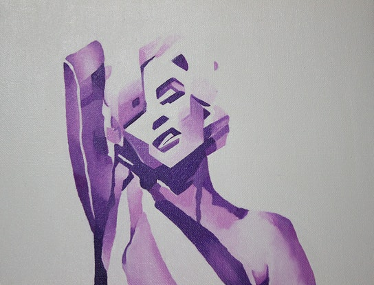 (CreativeWork) CHANEL No 5 by Gabbylou Dignam. Oil Paint. Shop online at Bluethumb.