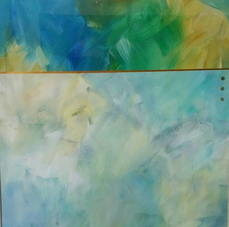 (CreativeWork) Tranquillity  by Jan Naylor. Mixed Media. Shop online at Bluethumb.
