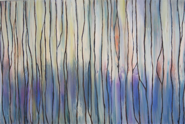 (CreativeWork) Daybreak  by Corinne Young. Oil Paint. Shop online at Bluethumb.