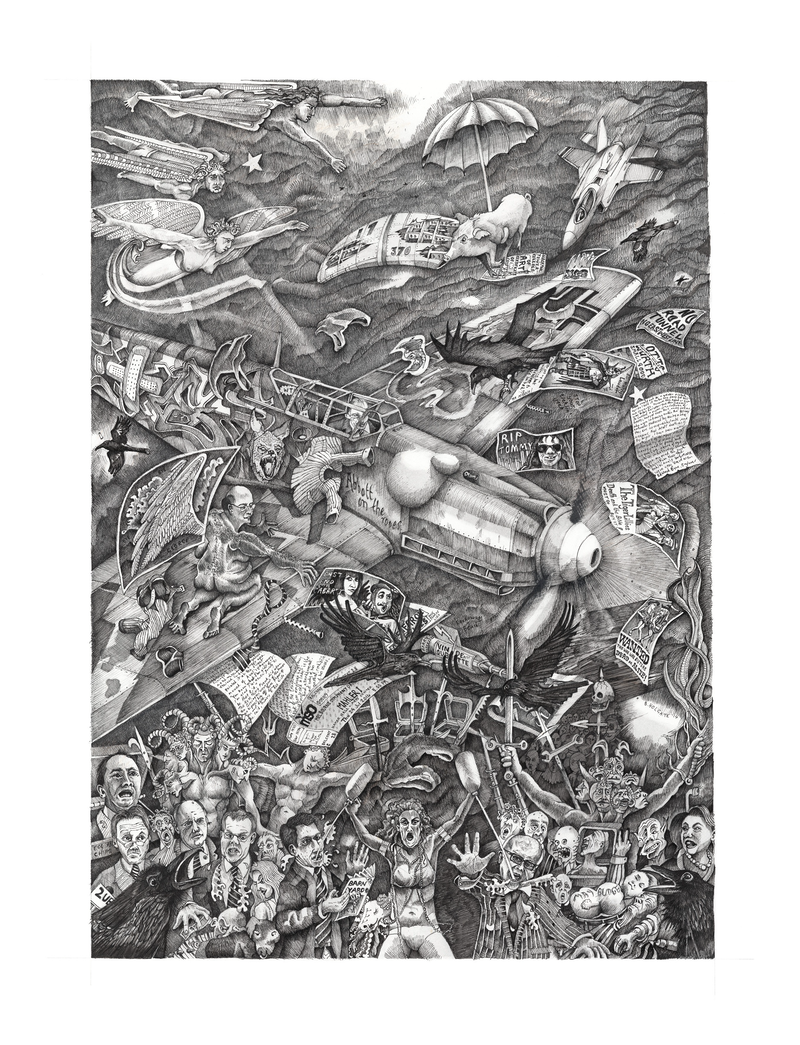 (CreativeWork) On the ropes by Ben Holgate. Drawings. Shop online at Bluethumb.
