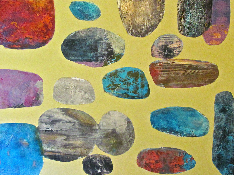 (CreativeWork) Dust of the Mustard Haze ( sale price $240 )  by Jack Isbister. Acrylic Paint. Shop online at Bluethumb.