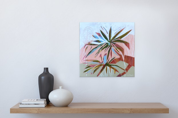 (CreativeWork) Pandanus Views - Framed by Helen Shadforth. Acrylic Paint. Shop online at Bluethumb.
