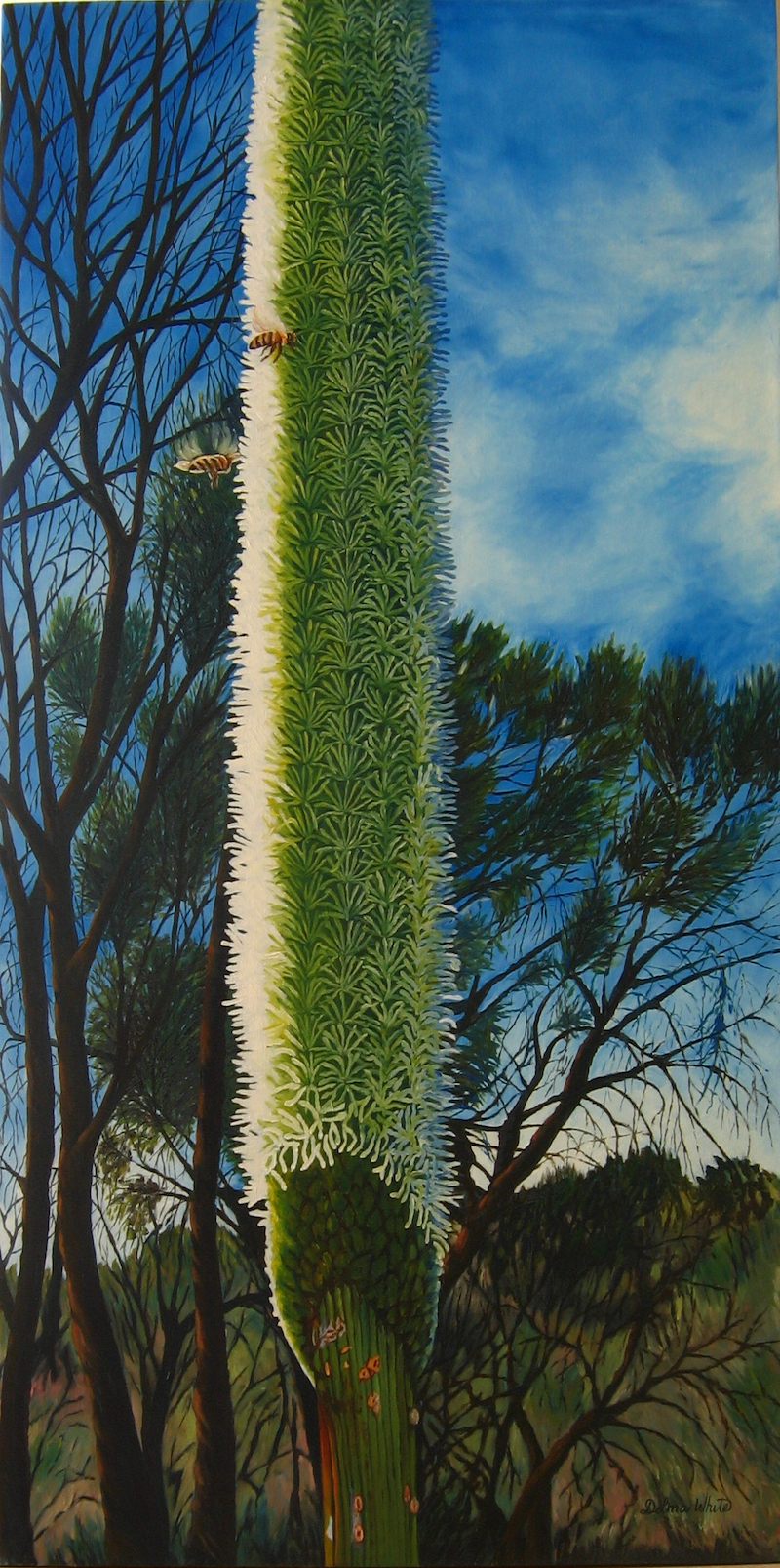 (CreativeWork) Sky View by Delma White. Oil Paint. Shop online at Bluethumb.